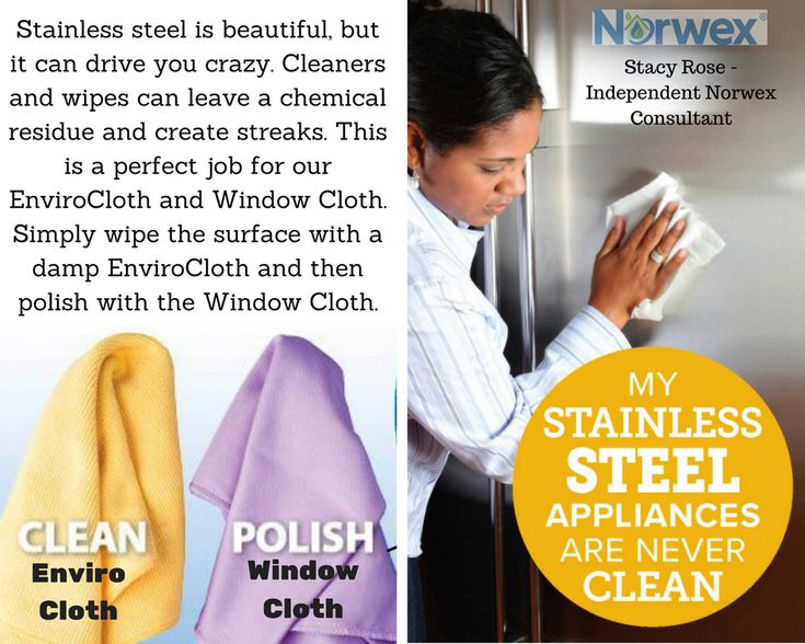 Clean stainless steel quickly with norwex toxicfree