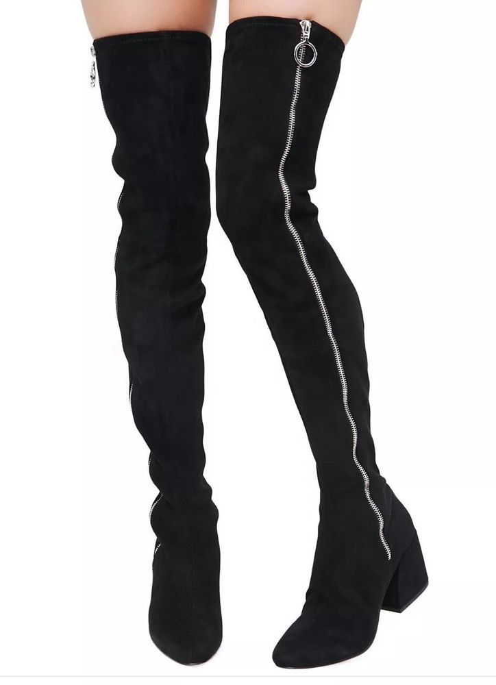5b3920a03e1 Dolce Vita Women Vix Zip Up Over The Knee Boot  Size 8  Black     fashion   clothing  shoes  accessories  womensshoes  boots (ebay link)