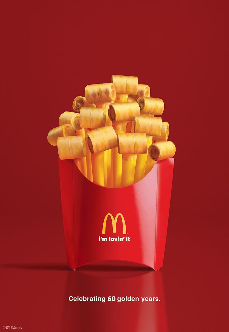 McDonald's: Party fries Celebrating 60 delicious years. Advertising Agency: Cossette, Chicago, USA