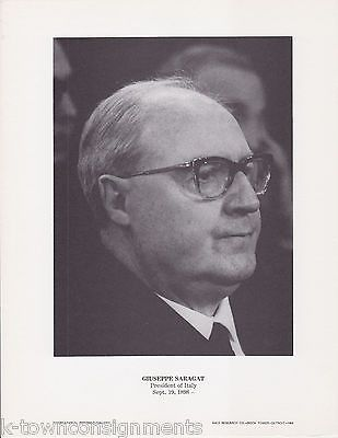 Giuseppe Saragat President of Italy Vintage Portrait Gallery Poster Photo Print