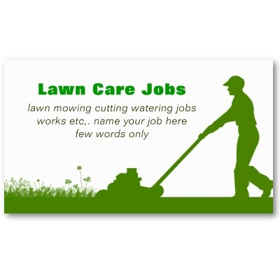 Lawn care grass cutting business card | Lawn care ...