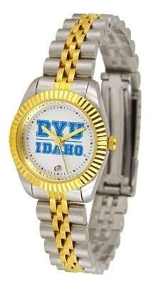 BYU Brigham Young University Women's Two-Tone Executive Watch by SunTime. $134.95. 2-Tone Stainless Steel Band. Links Make Watch Adjustable. 23kt Gold-Plated Bezel. Women. Officially Licensed Brigham Young Cougars Women's Two-Tone Executive Watch. BYU Brigham Young women's stainless steel and gold dress watch. College ladies watch gives a classic, business-appropriate look. Features a 23kt gold-plated bezel, stainless steel case and date function. Secures to your wrist with...