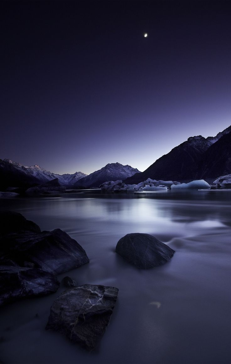 Moonlight by Yan Zhang - artprints available from www.imagevault.co.nz #New Zealand #Southern Alps