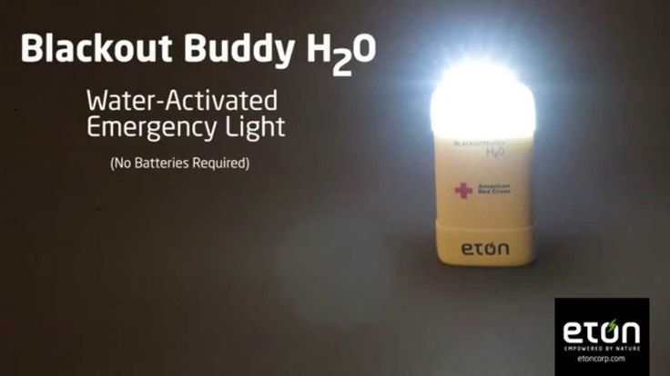 Water-Activated, Emergency-Light(No Batteries Required) - Blackout Buddy...