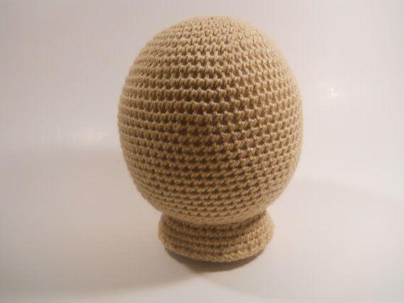 Crocheted Mannequin Head  newborn infant size hat display