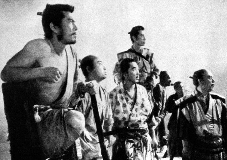 Toshirô Mifune, l'un des Sept Samouraïs chers à Kurosawa, 1954.