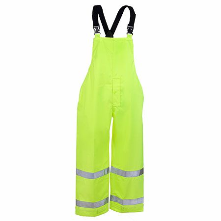 Tingley Rubber Men's High-Visibility O24122 Lime Green Waterproof Overalls
