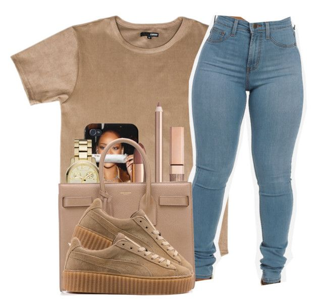 """imma let this song cry"" by lonna19thuggin ❤ liked on Polyvore featuring Michael Kors and Yves Saint Laurent"
