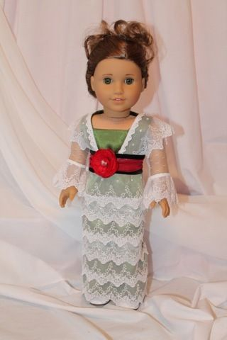Titanic - Rose's Tea Gown. American Girl doll size. OOAK by All Dolled Up Doll Clothes
