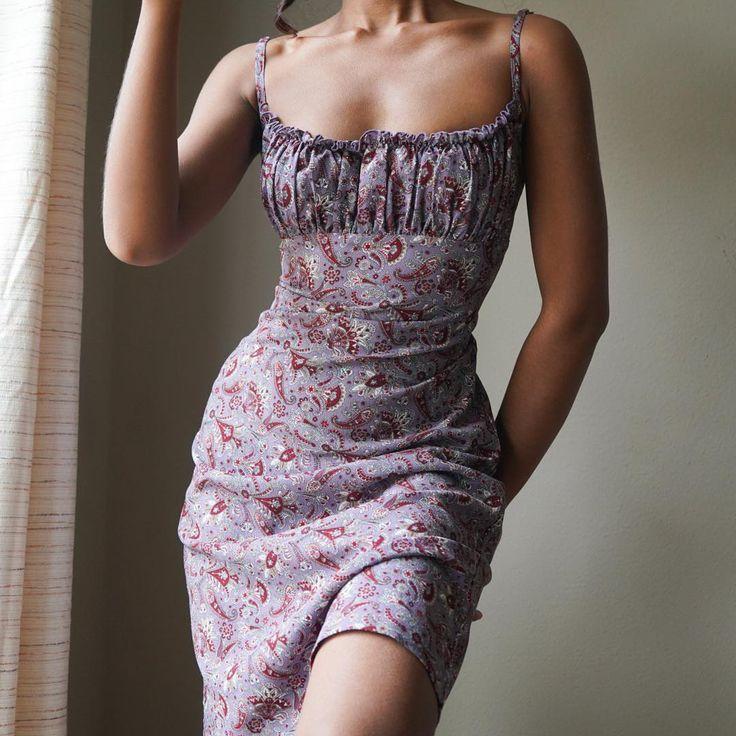 "Masha & Jlynn on Instagram: ""SOLD 90s purple paisley print dress for a size S…."