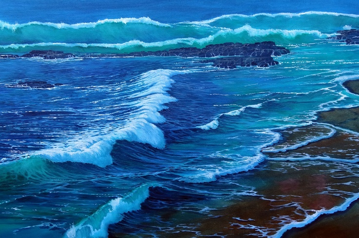 Oil Painting of La Jolla Beach