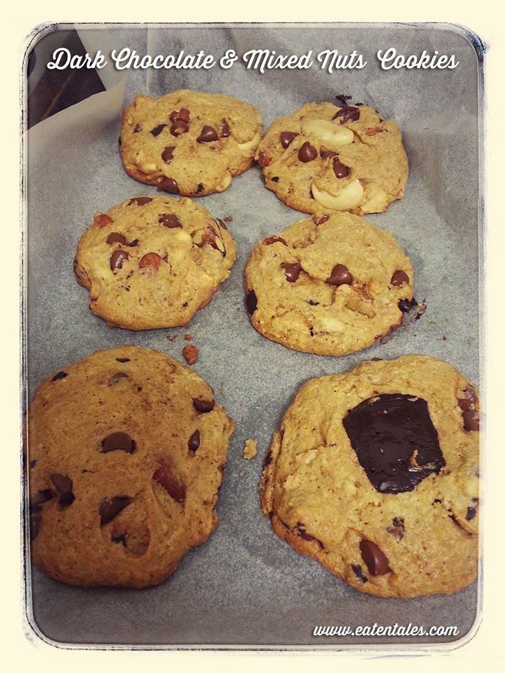 Dark Chocolate & Mixed Nuts Cookie