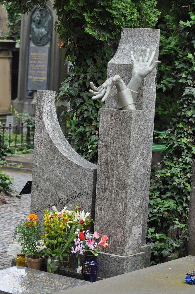 Vlasta Burian 1891 - 1962, actor & Czech movie comedian. Vysehrad Cemetery, Prague, Czech Republic #headstone #tombstone #gravestone