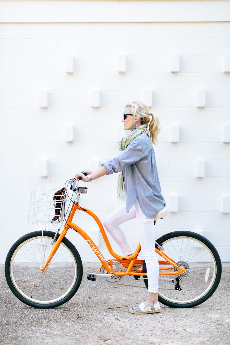 orange electra bike | Luella & June