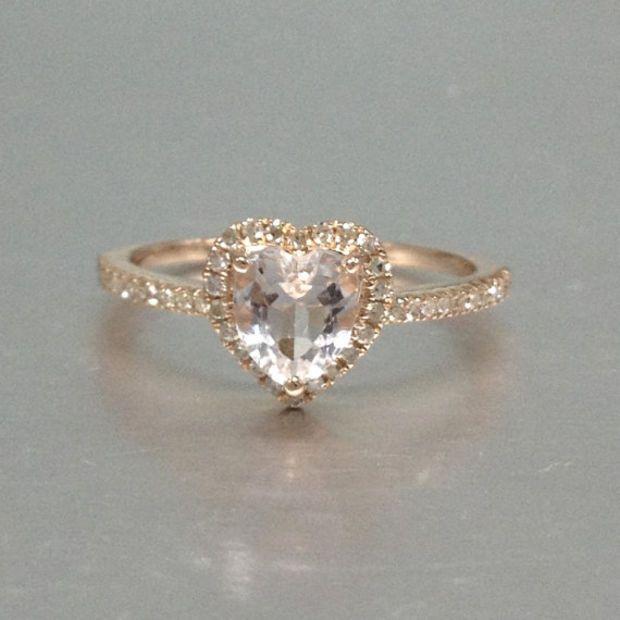 Best 25+ Rose gold heart ring ideas on Pinterest | Heart ...