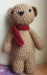 Classic little bear pattern | Hook and Stitch Crafts, #crochet, free pattern, amigurumi, stuffed toy, #haken, gratis patroon (Engels), teddybeer, speelgoed, knuffel, haakpatroon