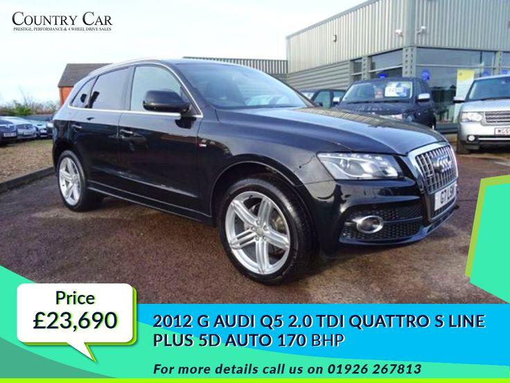 £23,690 | 2012 G #AUDI Q5 2.0 TDI QUATTRO S LINE PLUS 5D AUTO 170 #used audi cars #audi uk #audi dealership #used audi  -  www.countrycar.co.uk  Call Us On - 01926 267813
