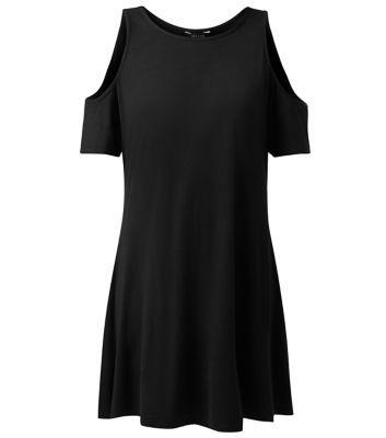 £19.99 Dress New Look Black Open Shoulder Swing Dress