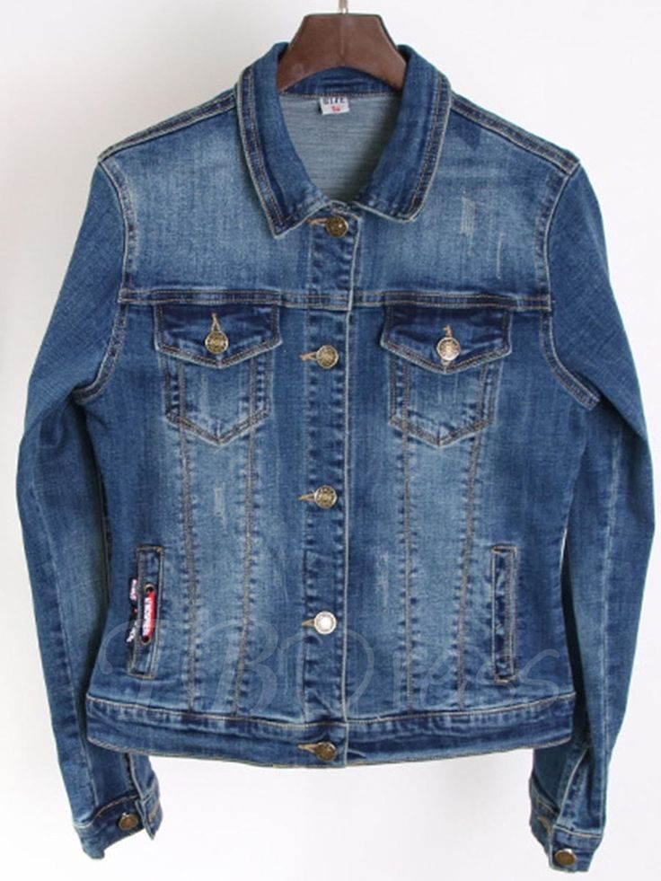 Tbdress.com offers high quality Loose Casual Women's Denim Boyfriend Jacket Jackets unit price of $ 32.99.