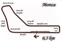 Grand Prix d'Italie 1950-Tracé de la course Le Grand Prix automobile d'Italie 1950 (21° Gran Premio d'Italia), disputé le 3 septembre 1950 sur le circuit de Monza, est la septième épreuve du championnat du monde de Formule 1. Nombre de tours80 Longueur du circuit6,3 km Distance de course504 km