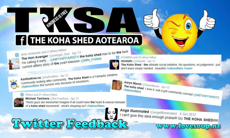 Here is a list of where you can find #TheKohaShed  if you have a spare shed available please consider joining us :) #TKSA = #Aotearoa #Australia and soon #America :)  Main Group https://www.facebook.com/groups/thekohashedaotearoa/