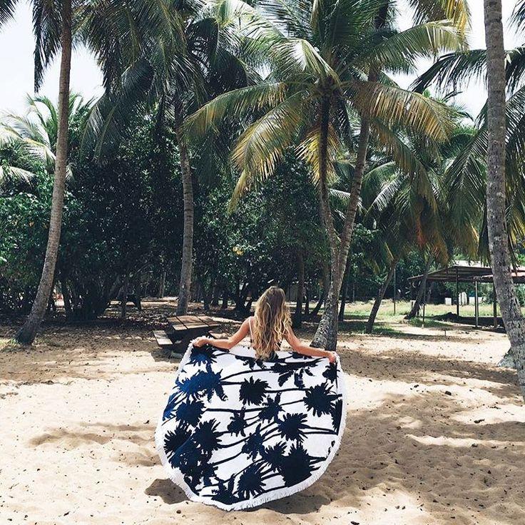 DIY serviette de plage ronde, l'accessoire indispensable de l'été !     DIY beach towel round, the indispensable accessory of summer!