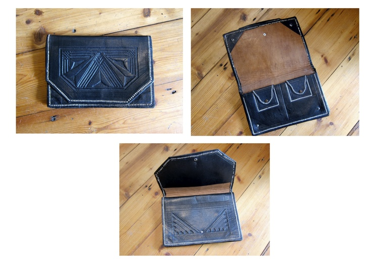 Vintage leather Clutch £35  http://vintagethreadspeckham.wordpress.com/2012/07/19/its-in-the-bag/