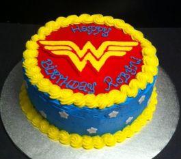 Wonder Woman Cake Buttercream