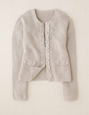 Boden Hand Crochet Jacket A chic, hand crocheted cardigan in the shape of a tailored jacket. How clever is that?