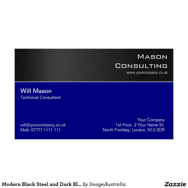 98 best blue business cards images on pinterest business cards modern black steel and dark blue business card reheart Image collections