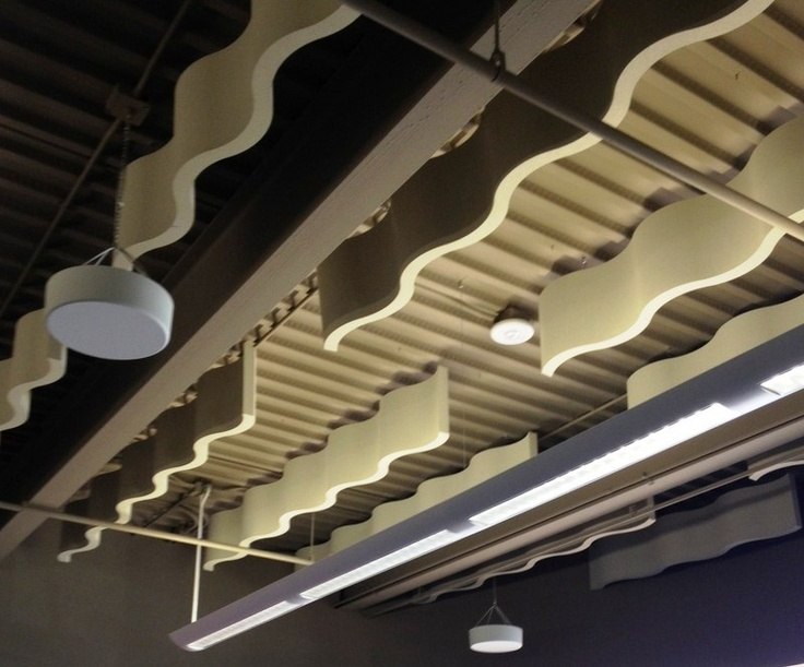 acoustic solutions office acoustics. Whisperwave Ribbon Baffles Beautiful WavePatterned Acoustical Ceiling Treatments Solutions Acoustic Office Acoustics N