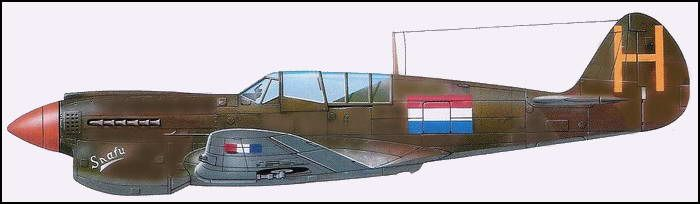 P-40N Kittyhawk van het Nederlandse 120 Squadron  (SNAFU staat voor; 'Situation Normal, All Fucked Up' )