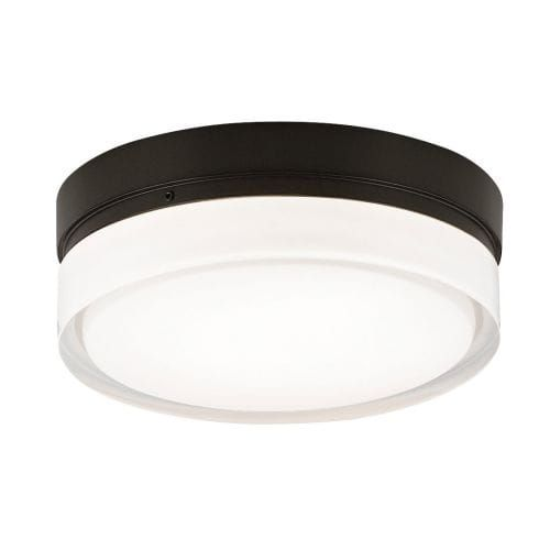 Tech Lighting 700CQS Cirque Halogen 1 Light 6 Flush Mount Ceiling Fixture with Round Pressed Glass Shade (