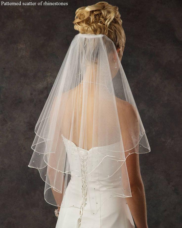Elbow Length Bridal Veil with Rhinestones -beautiful!