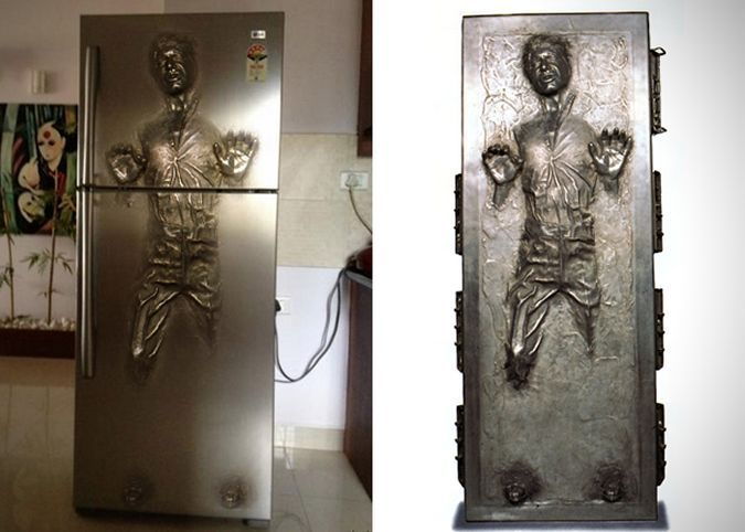 Star Wars Han Solo Refrigeratorhttp://coolpile.com/home-stuff-magazine/star-wars-han-solo-refrigerator/  via CoolPile.com  Design, Fridge, Han Solo, Kitchen, Photo, Star Wars, Style