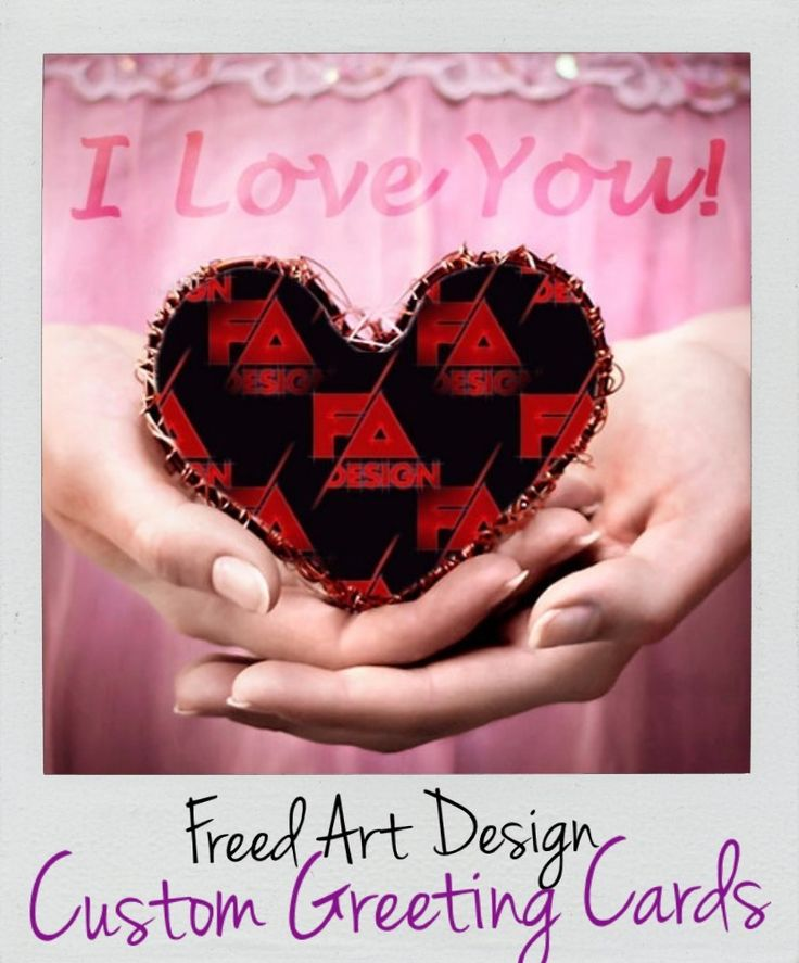Freed Art Custom Greeting Card Design