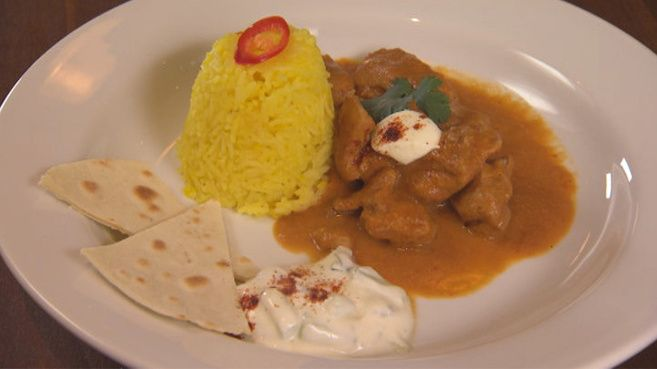 Butter Chicken with Saffron Rice and Flatbread