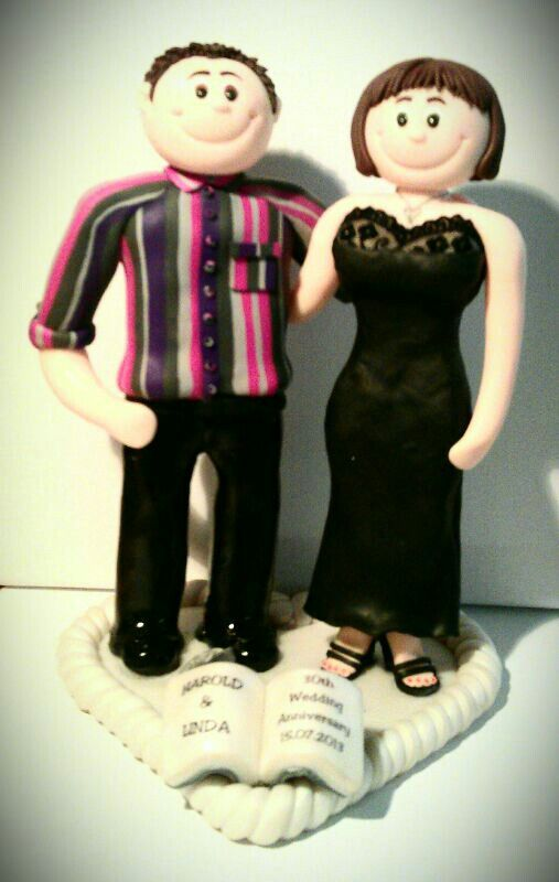 Pearl Wedding Anniversary cake topper!