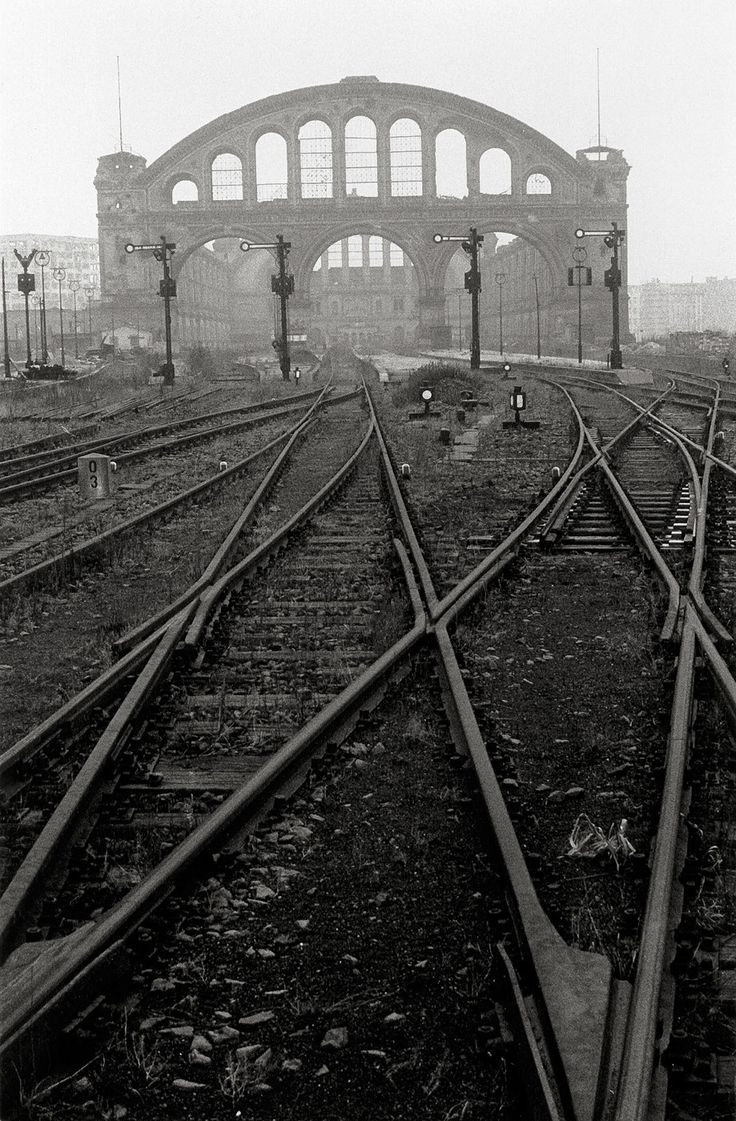 Abandoned Anhalter Bahnhof Railway Station after WWII in Berlin, Germany. Photo by Will McBride. http://en.wikipedia.org/wiki/Berlin_Anhalter_Bahnhof
