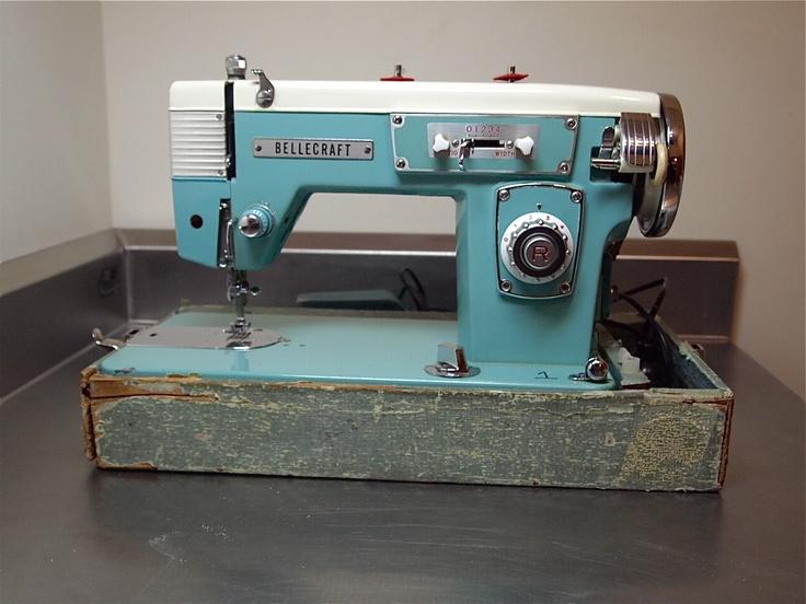 Vintage Bellecraft Sewing Machine Turquoise Sew Perfect