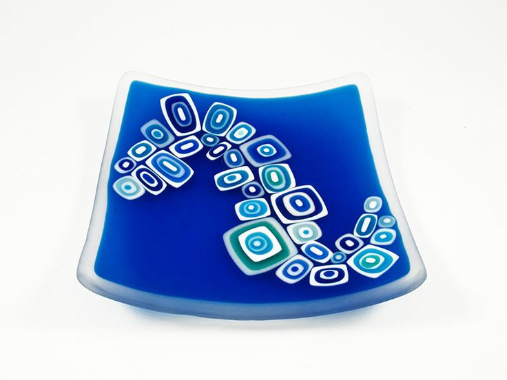 Junction Art Gallery -  David Pascoe Small 'Allsorts' Dish kiln formed and blown roll up glass £70.00 http://www.junctionartgallery.co.uk/artists/glass/david-pascoe/small-allsorts-dish-blue