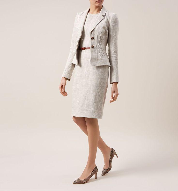 Beige Amalia Dress   Smart Dresses   Dresses   Hobbs