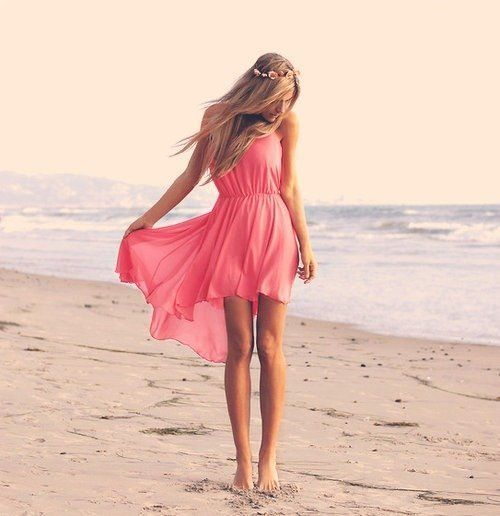 I would so wear this any day!!Pink Summer, Beach Dresses, Summer Dresses, High Low Dresses, Fashion, Pink Dresses, Style, Highlow, The Dresses