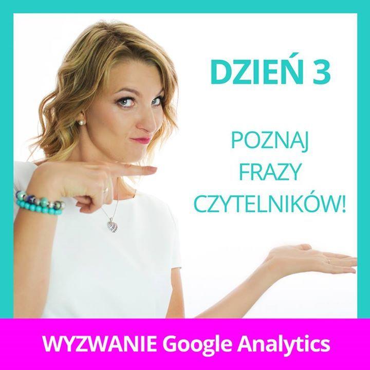 """Już za godzinę widzimy się na live o analizie treści w Google Analytics! Nie może Cię zabraknąć szczególnie jeśli blogujesz. Szykuje się potężna dawka wiedzy!  Nie ma cię jeszcze w wyzwaniu? Wpisz w komentarzu Podejmuję wyzwanie"""" i czekaj na dalsze instrukcje!"""