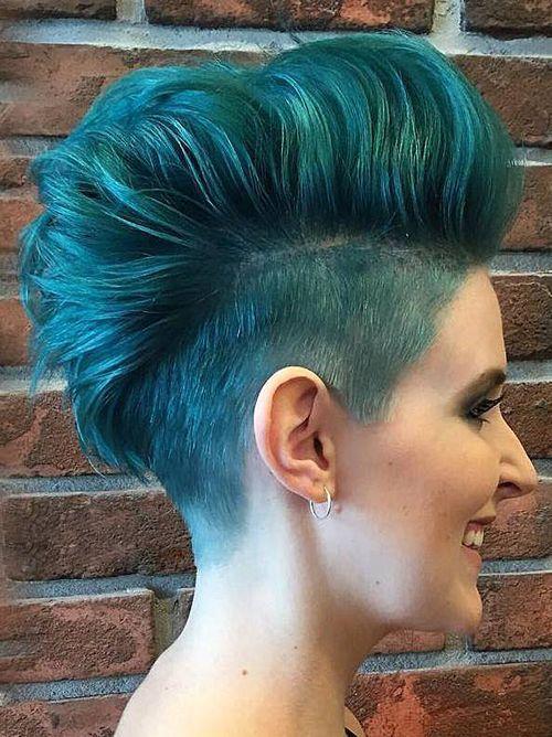Short Punk Hairstyles 285 Best Pompadour Parade Images On Pinterest  Feminine Pixie Cuts
