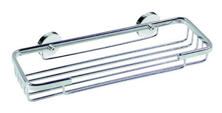 Roond Sponge Basket - Never Drill Again-Chrome on Brass-No drilling required