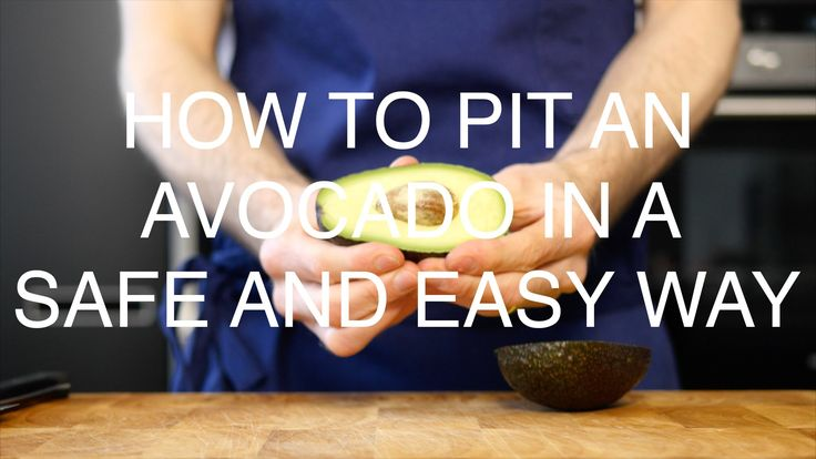 How to pit an avocado in the safest and easiest way possible!