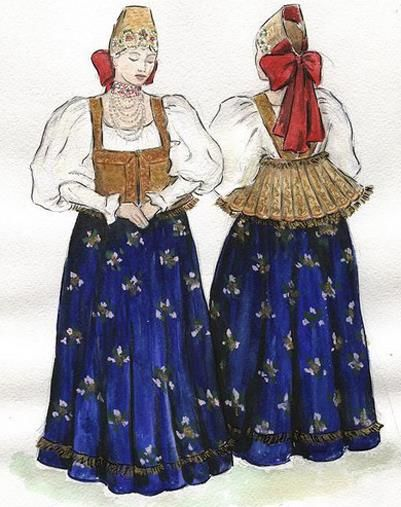 Конспект урока по изо мужской русский народный костюм