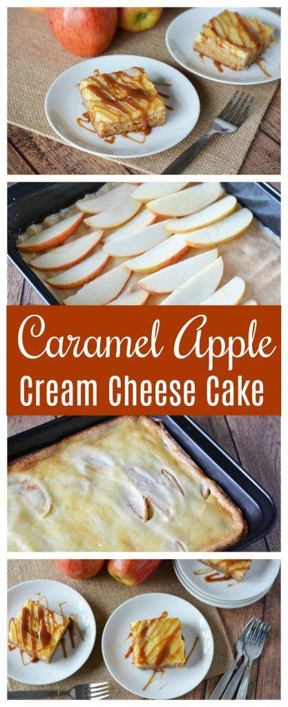 This easy Caramel Apple Cream Cheese Cake Recipe i…