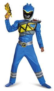Power Rangers Dino Charge Blue Ranger Muscle Child Costume - 355657 | trendyhalloween.com #trendyhalloween